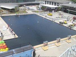 Wasserbecken im Verkehrshaus Luzern