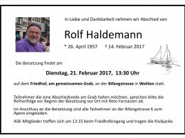 Todesanzeige Rolf Haldemann 1957 - 2017 02