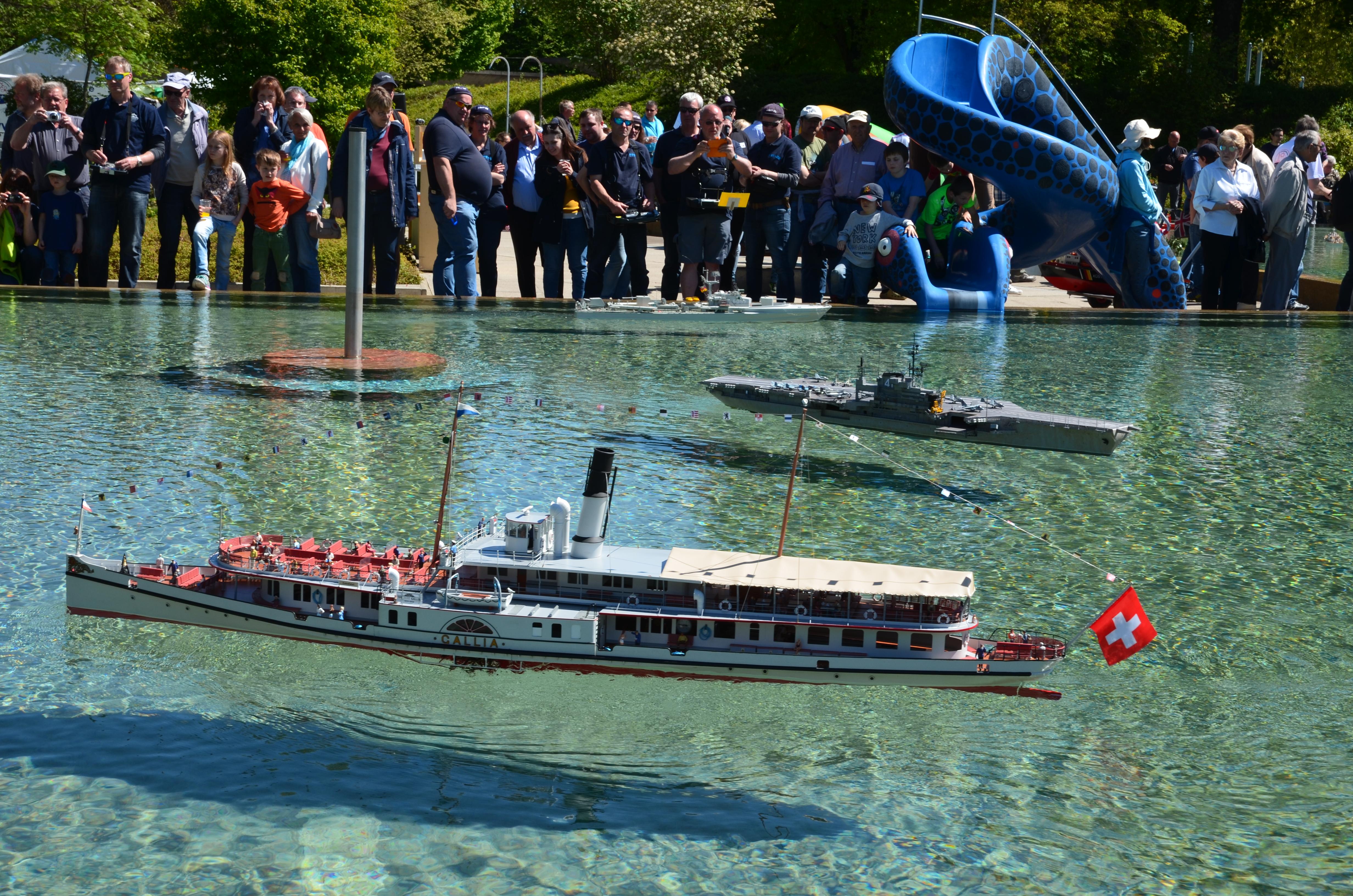 DS Gallia am ASK-Schiffsmodellschaufahren 2017 in Wohlen