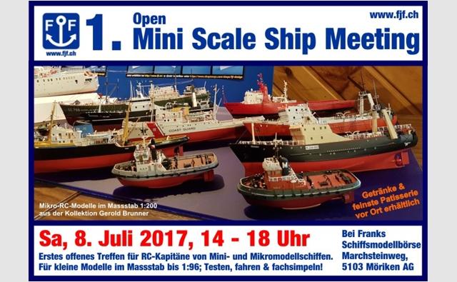 Flyer 1. Open Mini Scale Ship Meeting 8. Juli 2017 für Homepagebanner