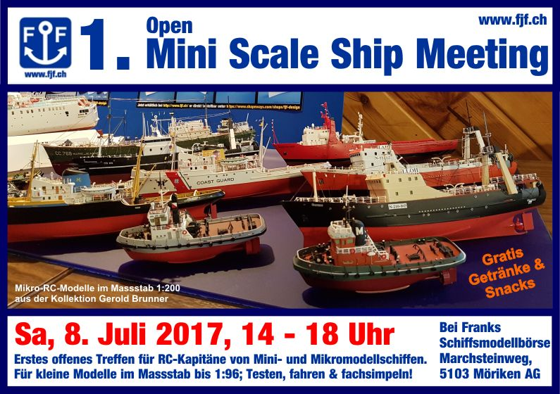 1. Open Mini Scale Ship Meeting, Möriken @ Frank's Schiffsmodellbörse | Möriken-Wildegg | Aargau | Schweiz