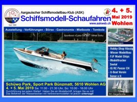 Banner ASK-Schiffsmodellschaufahren 2019